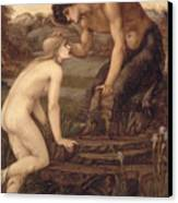 Pan And Psyche Canvas Print by Sir Edward Burne-Jones