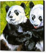 Panda Date Canvas Print by Susan A Becker