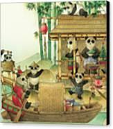 Pandabears Christmas 03 Canvas Print by Kestutis Kasparavicius