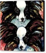 Papillon De Mardi Gras Canvas Print by Kathleen Sepulveda