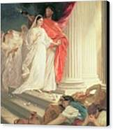Parable Of The Wise And Foolish Virgins Canvas Print by Baron Ernest Friedrich von Liphart