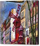 Paris Mulen Rouge Canvas Print by Yuriy  Shevchuk