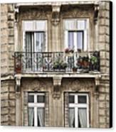 Paris Windows Canvas Print by Elena Elisseeva
