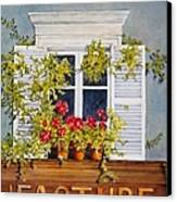 Parisian Window Canvas Print by Mary Ellen  Mueller Legault