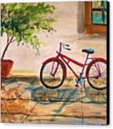 Parked In The Courtyard Canvas Print by John Williams