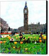 Parliament Square London Canvas Print by Kurt Van Wagner