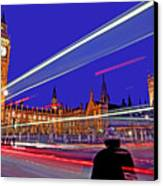 Parliament Square With Silhouette Canvas Print by Chris Smith
