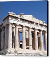 Parthenon Front Facade Canvas Print by Jane Rix