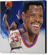 Patrick Ewing Canvas Print by Cliff Spohn