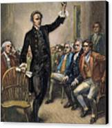 Patrick Henry (1736-1799) Canvas Print by Granger