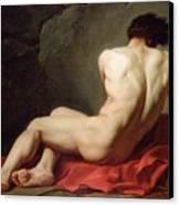 Patrocles Canvas Print by Jacques Louis David