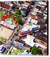 Pats King Of Steaks And Genos Steaks South Philadelphia 4542 Canvas Print by Duncan Pearson