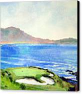 Pebble Beach Gc 7th Hole Canvas Print by Scott Mulholland
