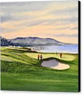 Pebble Beach Golf Course Canvas Print by Bill Holkham