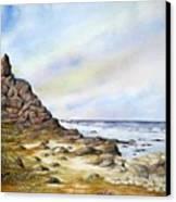 Pebble Beach Canvas Print by Travis Kelley