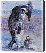 Penguin Love Canvas Print by Nadine Rippelmeyer
