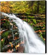 Pennsylvania Autumn Ricketts Glen State Park Waterfall Canvas Print by Mark VanDyke