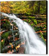Pennsylvania Autumn Ricketts Glen State Park Waterfall Canvas Print by Mark VanDyke