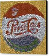 Pepsi Bottle Cap Mosaic Canvas Print by Paul Van Scott
