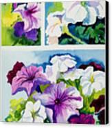 Petunias In Summer Canvas Print by Janis Grau