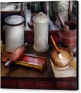 Pharmacist - Equipment For Making Pills  Canvas Print by Mike Savad
