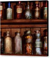 Pharmacy - Caution Don't Mix Together Canvas Print by Mike Savad