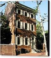 Phiily Row House 1 Canvas Print by Paul Barlo