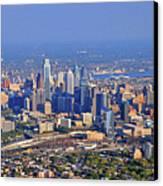 Philadelphia Aerial  Canvas Print by Duncan Pearson