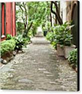 Philadelphia Alley Charleston Pathway Canvas Print by Dustin K Ryan