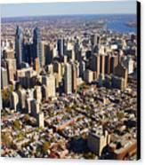 Philadelphia Skyline Aerial Graduate Hospital Rittenhouse Square Cityscape Canvas Print by Duncan Pearson