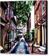 Philadelphia's Elfreth's Alley Canvas Print by Bill Cannon