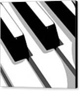 Piano Keyboard Canvas Print by Michael Tompsett