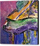 Piano Purple - Cropped Canvas Print by Anita Burgermeister