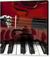 Piano Reflections Canvas Print by Garry Gay