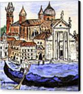 Piazzo San Marco Venice Italy Canvas Print by Arlene  Wright-Correll