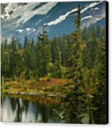 Picture Lake Vista Canvas Print by Mike Reid