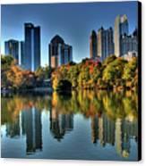 Piedmont Park Atlanta City View Canvas Print by Corky Willis Atlanta Photography
