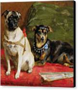 Pierette And Mifs Canvas Print by Charles van den Eycken
