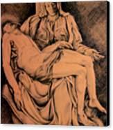Pieta Study Canvas Print by Hanne Lore Koehler