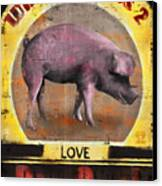 Pig Out Canvas Print by Joel Payne