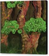 Pines By The Brook Canvas Print by Anna Folkartanna Maciejewska-Dyba