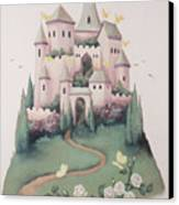 Pink Castle Canvas Print by Suzn Smith