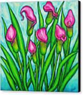 Pink Ladies Canvas Print by Lisa  Lorenz