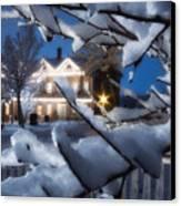 Pioneer Inn At Christmas Time Canvas Print by Utah Images