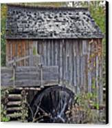 Pioneer Water Mill Canvas Print by DigiArt Diaries by Vicky B Fuller