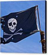Pirate Flag Skull And Cross Bones Canvas Print by Garry Gay