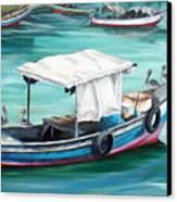 Pirogue Fishing Boat  Canvas Print by Karin  Dawn Kelshall- Best