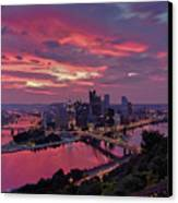 Pittsburgh Dawn Canvas Print by Jennifer Grover