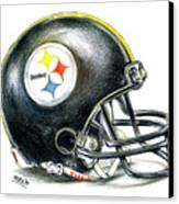 Pittsburgh Steelers Helmet Canvas Print by James Sayer