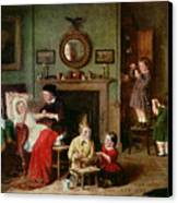 Playing At Doctors Canvas Print by Frederick Daniel Hardy
